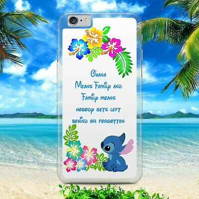 Disney/lilo And Stitch/tropical Ohana/hard Plastic Phone Case/cover For Iphone • 4.97£
