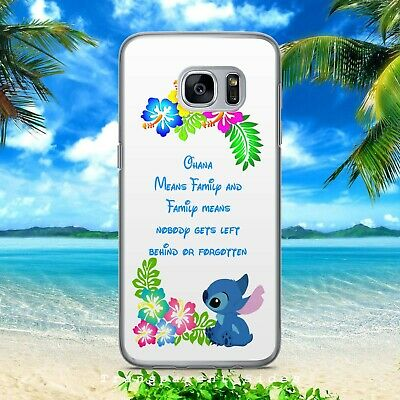 £5.99 • Buy Lilo And Stitch Tropical Ohana Floral Hard Phone Case/cover For Samsung Huawei