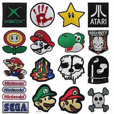 Embroidered GAME Iron On  Sew On Patches Badges Transfers - Fancy Dress • 1.99£