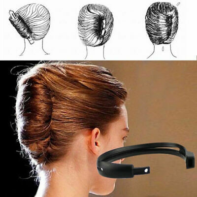 $4.99 • Buy 2pcs/set Women Hair Styling Updo Donut Bun Clip Tool French Twist Maker Holder