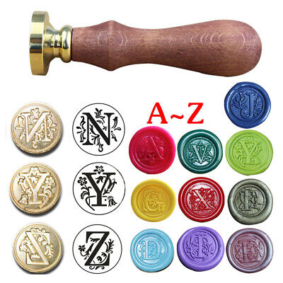 $3.17 • Buy Retro Alphabet Letter A-Z Initial Sealing Wax Seal Stamp Invitations Making Acc