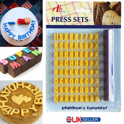 72pc Alphabet Number Letter Cookie Biscuit Stamp Cutter Embosser Cake Mould Tool • 2.98£