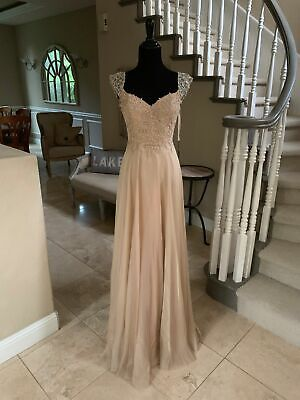 £144.76 • Buy $498 Nwt Nude La Femme Prom/pageant/formal/bridesmaid Dress/gown #20701 Size 2