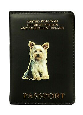 Yorkshire Terrier Gift - Passport Cover PU Leather - Fits Uk Passports • 5.35£