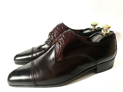 $ CDN660.63 • Buy Artioli Brown Leather + Crocodile Leather Shoes Size 43, UK-9, US-10
