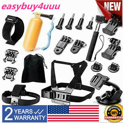 AU31.81 • Buy Head Chest Mount Accessories Kit For GoPro Hero 4/3+/3/2/1 &SJ4000/5000/6000 NEW