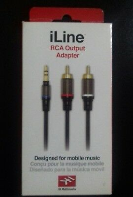 IK Multimedia ILINE RCA Output Adapter - Mobile Music/ Audio Cable -- 150cm • 19.99£