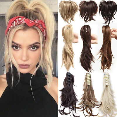 £8.90 • Buy UK Real Thick Claw On Short Ponytail Fake Hair Piece Clip In Hair Extensions 12
