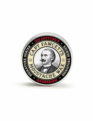 Captain Fawcett Barberism Moustache Wax Hair Styling Sid Sottung Barber 15ml Tin • 11.99£