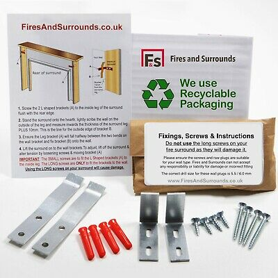 £12.95 • Buy Wood Fireplace Fitting Kit / Fire Surround Hidden Fixing Brackets: Complete Set