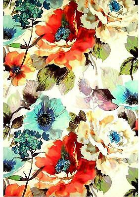 TB Vintage Poppy Flower Wallpaper Edible Decor Icing Sheet Cake Toppers • 2.89£