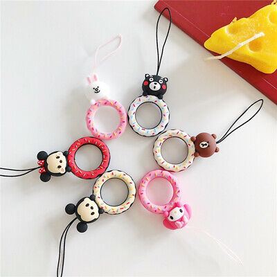 $ CDN5.10 • Buy Cute Cartoon Mickey Bear Buckle Holder Strap Rope For Mobile Phone Airpods Case