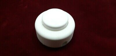 Small Round Press Foot Switch Light Switch Lamp Switch In White For 2 Or 3 Core • 4.99£