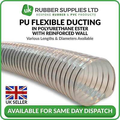 Clear Flexible Ducting Hose/pipe For Ventilation Of Dust & Fumes Woodworking • 11.94£
