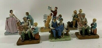 $ CDN131.53 • Buy Lot Of 6 1979 Norman Rockwell Ceramic Figurines Sweet Sixteen Mother Toy Maker