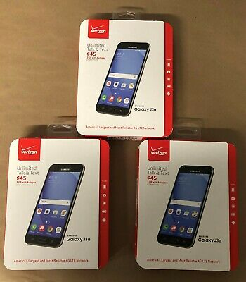 $ CDN289.98 • Buy WHOLESALE LOT Of 3 Samsung Galaxy J3 6 (Verizon) Prepaid - Black - NEW
