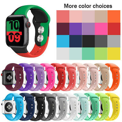 New Replacement Silicone Sport Band IWatch Strap For Apple Watch Series 5/4/3/21 • 3.99£