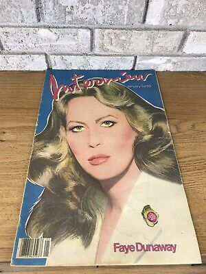 $29.99 • Buy Vintage Interview Magazine- January 1982 Faye Dunaway Cover Andy Warhol