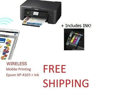View Details Epson Home XP-4105 Wireless Printer Copy Scan All In One Free Shipping W INK! • 68.00$