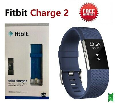 $ CDN78.35 • Buy Fitbit Charge 2 Heart Rate Monitor Fitness Activity Tracker FB407SBUL Blue Large