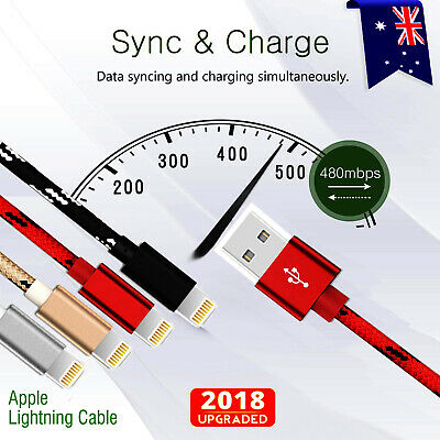 AU4.99 • Buy 1M 2M 3M USB Lightning Charger Cable Cord Data For Apple IPhone IPad IPod Air