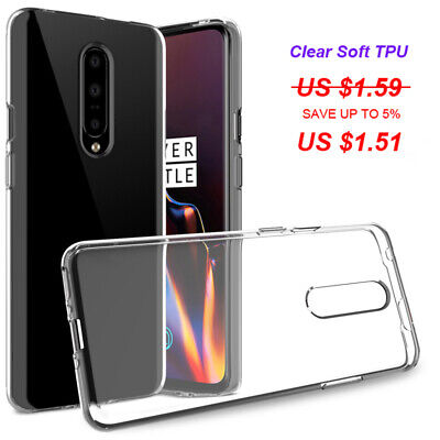 AU3.78 • Buy For OnePlus 7 Pro 6T 5T 3T Ultra Slim Shockproof Clear Soft TPU Back Case Cover