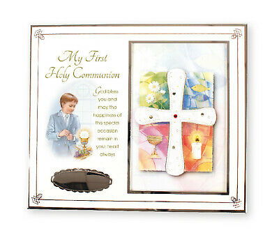 Boy's First Holy Communion Sliver Photo Frame - Holy Religious Gift 1st • 13.50£