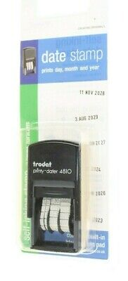 £12.55 • Buy Date Stamp Days Month Year Self Inking Stamp 3.8mmc Characters New