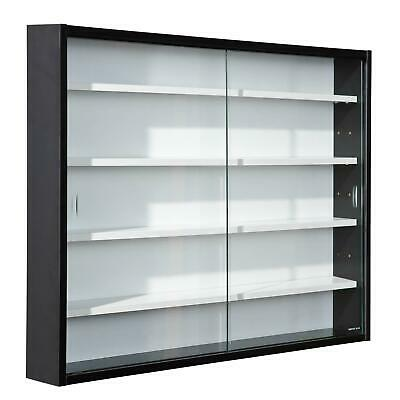 £64.99 • Buy Modern Wall Display Cabinet Glass Laminated Models Collections Shelf Black White