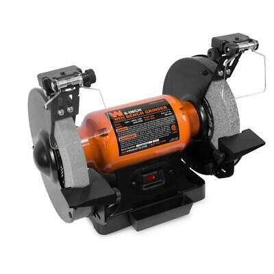 """8/"""" x 3//4 HP Variable Speed Bench Buffer 2000-3400 RPM LED Work Light New SALE"""