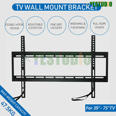 AU24.99 • Buy Universal TV Wall Mount Bracket 39 -75  Inch LCD LED PLASMA Flat Tilt Slim