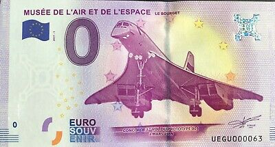 Ticket 0 Zero Euro Souvenir Museum Of AIR And SPACE 2017-1 Small #063 • 14.88£