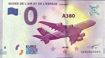 Ticket 0 Zero Euro Souvenir Museum Of AIR And SPACE 2017-2 Small #064 • 9.92£