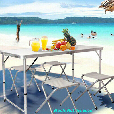£29.99 • Buy 4ft Adjustable Aluminium Folding Portable Camping Table Party BBQ Parasol Carry