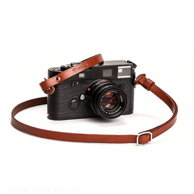 Adjustable Brown Leather Cam-in Camera Strap With Rings CAM3233 UK Stock • 27.99£