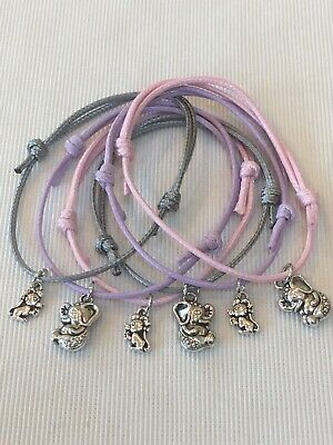 6 DUMBO THEMED FRIENDSHIP BRACELETS PARTY BAG FILLER HEN PARTY FAVOURS Tombola • 2.99£
