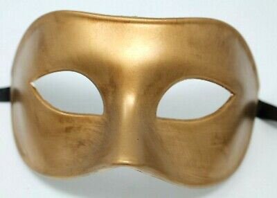 QUALITY MENS MALE GOLD Venetian Masquerade Party Eye Carnival Mask  • 8.99£