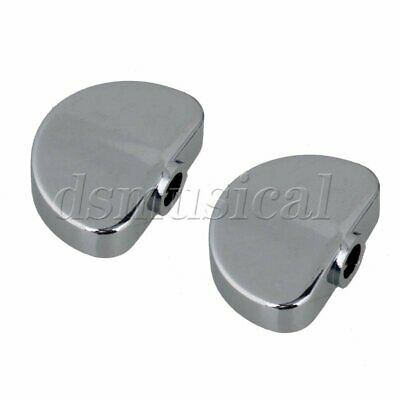 $ CDN9.31 • Buy 6 Pcs Silver Alloy Semicircle Buttons For Guitar Tuner Machine Head Tuning Pegs