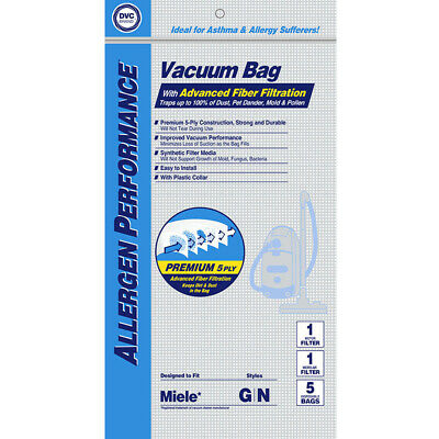 Meile Type GN 7189520 HEPA Vacuum Cleaner Bags DVC Made In USA • 574.78£