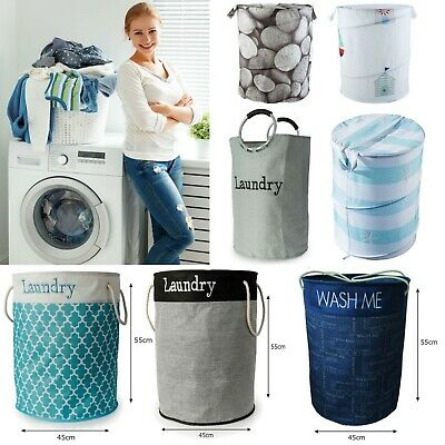 Laundry Bin Large Pop Up Folding Wash Basket Bag Storage Hamper Double Small XL • 13.97£
