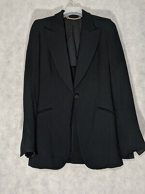 $399.99 • Buy Gucci Tom Ford Era Black Two Piece Wide Leg Suit Jacket Size 38 Italy
