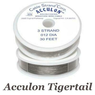 £3.75 • Buy Acculon Tigertail Wire 3 Or 7 Strand Stainless Steel Bead Stringing Choose Size