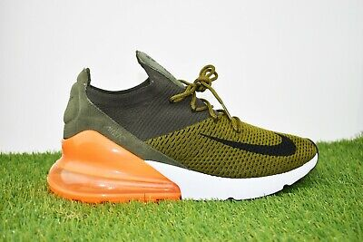 New Nike Air Max 270 Flyknit Size 10 Running Shoes Olive Flax/Black/Cargo Khaki • 89.77$