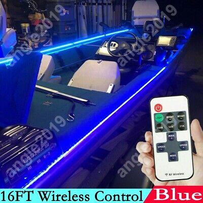 $15 • Buy Wireless Waterproof LED Strip Light 16ft For Boat  Truck  Car Suv  Rv Blue