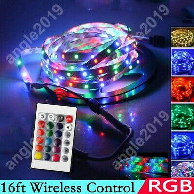 $16 • Buy 16ft RGB Wireless Control Waterproof LED Strip Light For Boat Truck Car SUV RV