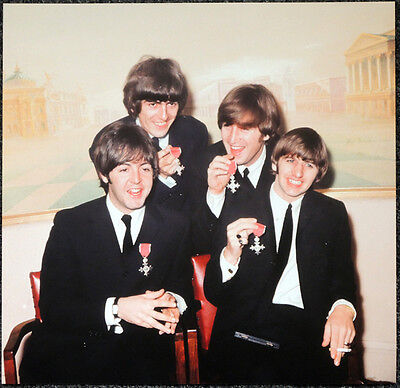 £5.99 • Buy The Beatles Poster Page 1965 Mbe Medals John Lennon George Harrison . J34