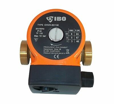 BRONZE MADE 25-60/130 Circulating Pump Central Heating Hot Water Repl. Grundfos • 54£