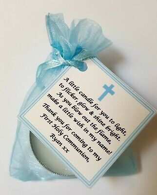 FIRST HOLY COMMUNION CANDLE FAVOURS GIFTS - GUEST FAVOURS Christening / Baptism  • 12.95£