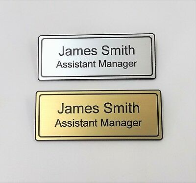 £1.95 • Buy Name Badges Hotel Engraved Quality Restaurant Magnet Or Pin Silver Or Gold