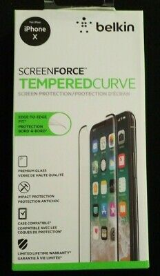 AU38.62 • Buy Belkin ScreenForce TemperedCurve Screen Protection For IPhone Xs/X – IPhone Xs S